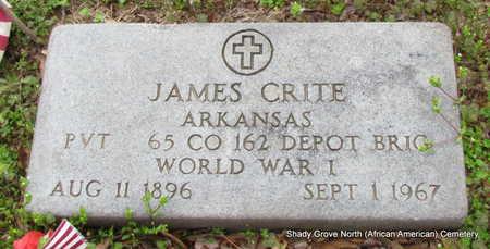 CRITE (VETERAN WWI), JAMES - Monroe County, Arkansas   JAMES CRITE (VETERAN WWI) - Arkansas Gravestone Photos
