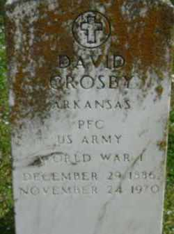 CROSBY (VETERAN WWI), DAVID - Monroe County, Arkansas | DAVID CROSBY (VETERAN WWI) - Arkansas Gravestone Photos