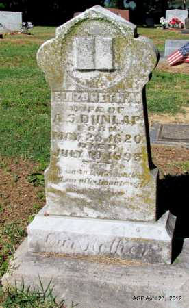 DUNLAP, ELIZABETH A - Monroe County, Arkansas | ELIZABETH A DUNLAP - Arkansas Gravestone Photos