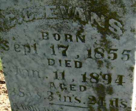 EVANS, C C (CLOSE UP) - Monroe County, Arkansas | C C (CLOSE UP) EVANS - Arkansas Gravestone Photos