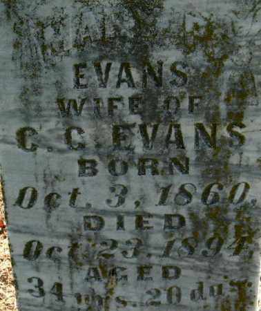 EVANS, MARY P (CLOSE UP) - Monroe County, Arkansas | MARY P (CLOSE UP) EVANS - Arkansas Gravestone Photos