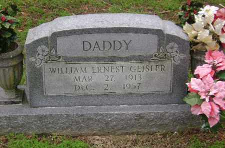 GEISLER, WILLIAM ERNEST - Monroe County, Arkansas | WILLIAM ERNEST GEISLER - Arkansas Gravestone Photos