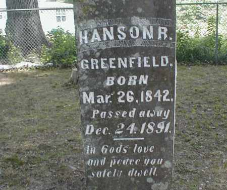 GREENFIELD, HANSON - Monroe County, Arkansas | HANSON GREENFIELD - Arkansas Gravestone Photos