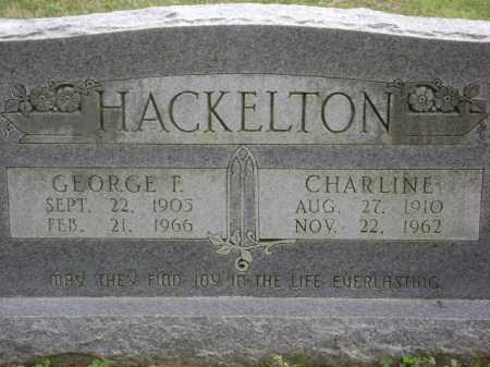 HACKELTON, CHARLINE - Monroe County, Arkansas | CHARLINE HACKELTON - Arkansas Gravestone Photos