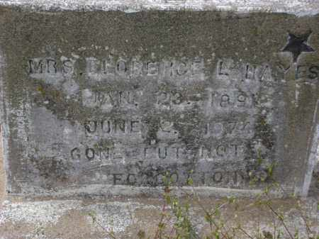 HAYES, FLORENCE L. - Monroe County, Arkansas   FLORENCE L. HAYES - Arkansas Gravestone Photos