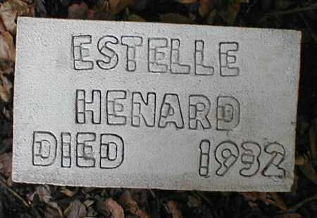 HENARD, ESTELLE - Monroe County, Arkansas | ESTELLE HENARD - Arkansas Gravestone Photos
