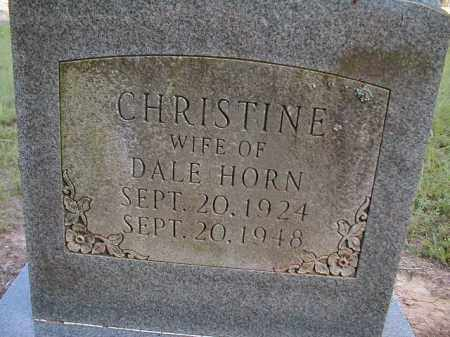 DAVENPORT HORN, CHRISTINE - Monroe County, Arkansas | CHRISTINE DAVENPORT HORN - Arkansas Gravestone Photos