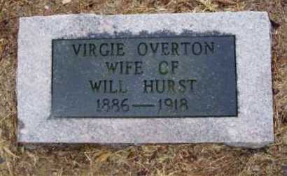 OVERTON HURST, VIRGIE - Monroe County, Arkansas | VIRGIE OVERTON HURST - Arkansas Gravestone Photos