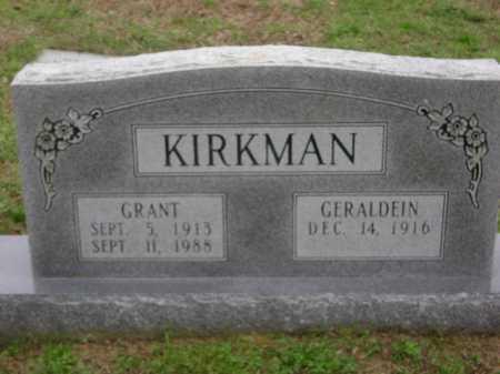 KIRKMAN, GRANT - Monroe County, Arkansas | GRANT KIRKMAN - Arkansas Gravestone Photos