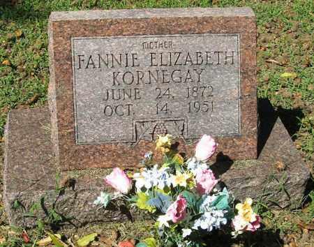 KORNEGAY, FANNIE ELIZABETH - Monroe County, Arkansas | FANNIE ELIZABETH KORNEGAY - Arkansas Gravestone Photos