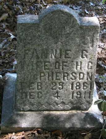 MCPHERSON, FANNY G. - Monroe County, Arkansas | FANNY G. MCPHERSON - Arkansas Gravestone Photos