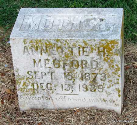 MEDFORD, ANNETTIE H - Monroe County, Arkansas | ANNETTIE H MEDFORD - Arkansas Gravestone Photos