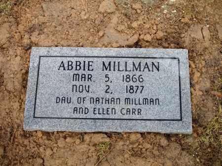 MILLMAN, ABBIE - Monroe County, Arkansas | ABBIE MILLMAN - Arkansas Gravestone Photos