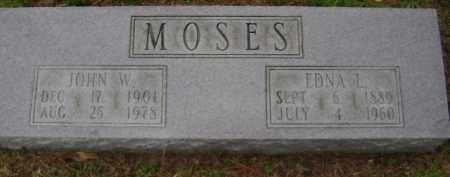 MOSES, JOHN W. - Monroe County, Arkansas | JOHN W. MOSES - Arkansas Gravestone Photos