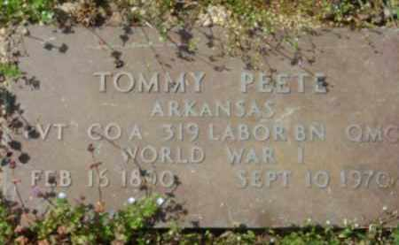 PEETE (VETERAN WWI), TOMMY - Monroe County, Arkansas | TOMMY PEETE (VETERAN WWI) - Arkansas Gravestone Photos
