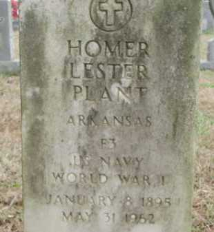 PLANT (VETERAN WWI), HOMER LESTER - Monroe County, Arkansas | HOMER LESTER PLANT (VETERAN WWI) - Arkansas Gravestone Photos