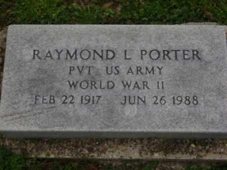 PORTER (VETERAN WWII), RAYMOND L. - Monroe County, Arkansas | RAYMOND L. PORTER (VETERAN WWII) - Arkansas Gravestone Photos