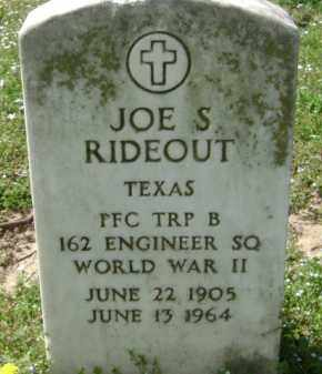 RIDEOUT (VETERAN WWII), JOE S. - Monroe County, Arkansas | JOE S. RIDEOUT (VETERAN WWII) - Arkansas Gravestone Photos