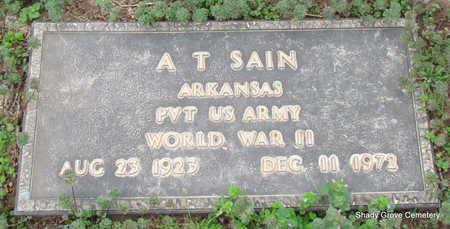 SAIN (VETERAN WWII), A T - Monroe County, Arkansas | A T SAIN (VETERAN WWII) - Arkansas Gravestone Photos