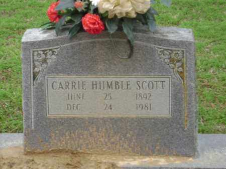 SCOTT, CARRIE - Monroe County, Arkansas | CARRIE SCOTT - Arkansas Gravestone Photos