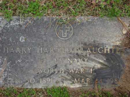 SLAUGHTER (VETERAN WWI), HARRY HAROLD - Monroe County, Arkansas | HARRY HAROLD SLAUGHTER (VETERAN WWI) - Arkansas Gravestone Photos