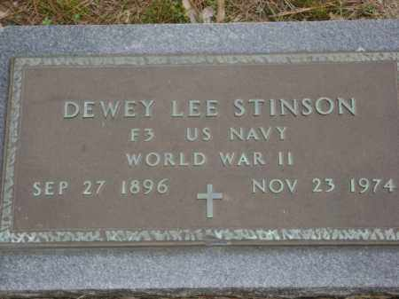 STINSON (VETERAN WWII), DEWEY LEE - Monroe County, Arkansas | DEWEY LEE STINSON (VETERAN WWII) - Arkansas Gravestone Photos