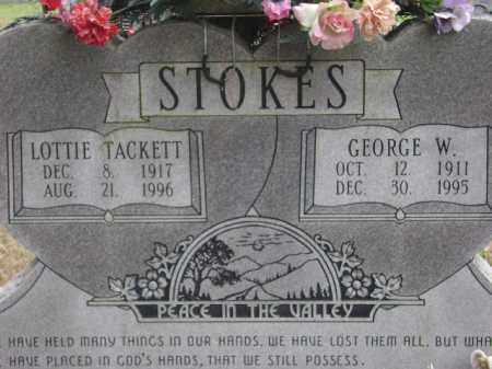 STOKES, LOTTIE TACKETT - Monroe County, Arkansas | LOTTIE TACKETT STOKES - Arkansas Gravestone Photos