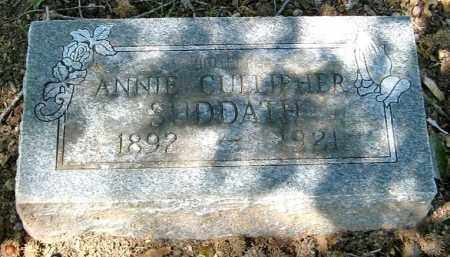 CULLIPHER SUDDATH, ANNIE - Monroe County, Arkansas | ANNIE CULLIPHER SUDDATH - Arkansas Gravestone Photos