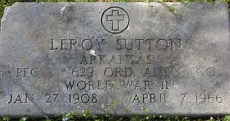 SUTTON (VETERAN WWII), LEROY - Monroe County, Arkansas | LEROY SUTTON (VETERAN WWII) - Arkansas Gravestone Photos