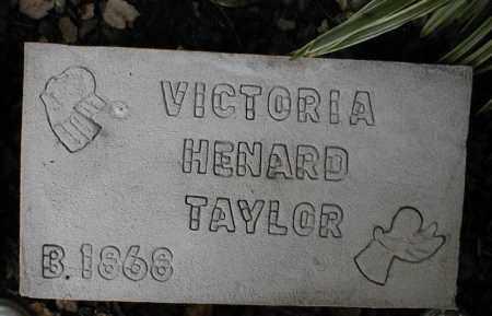HENARD TAYLOR, VICTORIA - Monroe County, Arkansas | VICTORIA HENARD TAYLOR - Arkansas Gravestone Photos