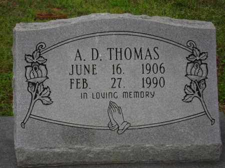THOMAS, A. D. - Monroe County, Arkansas | A. D. THOMAS - Arkansas Gravestone Photos