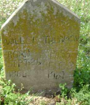 THURMON, WILL T. - Monroe County, Arkansas | WILL T. THURMON - Arkansas Gravestone Photos