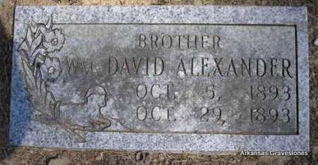 ALEXANDER, WM  DAVID - Montgomery County, Arkansas | WM  DAVID ALEXANDER - Arkansas Gravestone Photos