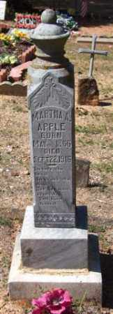 APPLE, MARTHA A - Montgomery County, Arkansas | MARTHA A APPLE - Arkansas Gravestone Photos