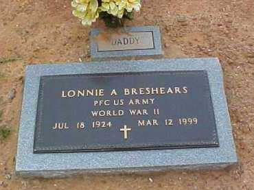 BRESHEARS  (VETERAN WWII), LONNIE ARLIE - Montgomery County, Arkansas | LONNIE ARLIE BRESHEARS  (VETERAN WWII) - Arkansas Gravestone Photos