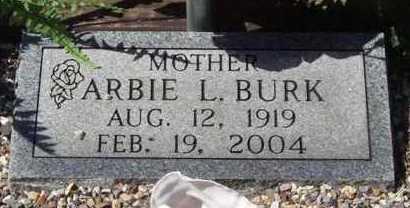 BURK, ARBIE L - Montgomery County, Arkansas | ARBIE L BURK - Arkansas Gravestone Photos