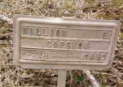 CAPSHAW, WILLIAM E - Montgomery County, Arkansas | WILLIAM E CAPSHAW - Arkansas Gravestone Photos