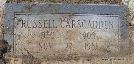 CARSCADDEN, RUSSELL - Montgomery County, Arkansas | RUSSELL CARSCADDEN - Arkansas Gravestone Photos
