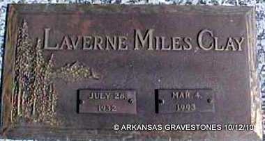 MILES CLAY, LAVERNE - Montgomery County, Arkansas | LAVERNE MILES CLAY - Arkansas Gravestone Photos