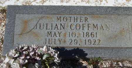 COFFMAN, JULIAN (CLOSEUP) - Montgomery County, Arkansas | JULIAN (CLOSEUP) COFFMAN - Arkansas Gravestone Photos