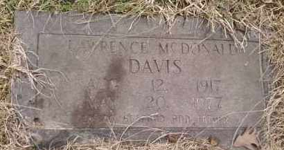 DAVIS, LAWRENCE MCDONALD - Montgomery County, Arkansas | LAWRENCE MCDONALD DAVIS - Arkansas Gravestone Photos