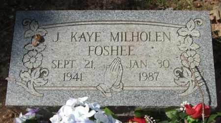 MILHOLEN FOSHEE, J  KAYE - Montgomery County, Arkansas | J  KAYE MILHOLEN FOSHEE - Arkansas Gravestone Photos