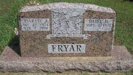 FRYAR, CHARLIE A - Montgomery County, Arkansas | CHARLIE A FRYAR - Arkansas Gravestone Photos