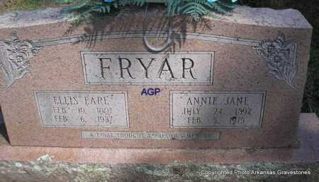 FRYAR, ANNIE JANE - Montgomery County, Arkansas | ANNIE JANE FRYAR - Arkansas Gravestone Photos