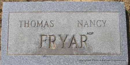 FRYAR, THOMAS - Montgomery County, Arkansas | THOMAS FRYAR - Arkansas Gravestone Photos