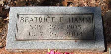 HAMM, BEATRICE E - Montgomery County, Arkansas | BEATRICE E HAMM - Arkansas Gravestone Photos