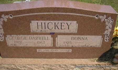 HICKEY, GEORGE DARRELL - Montgomery County, Arkansas | GEORGE DARRELL HICKEY - Arkansas Gravestone Photos