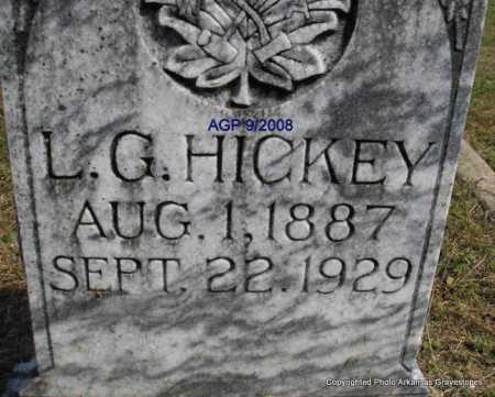 HICKEY, L  G - Montgomery County, Arkansas | L  G HICKEY - Arkansas Gravestone Photos
