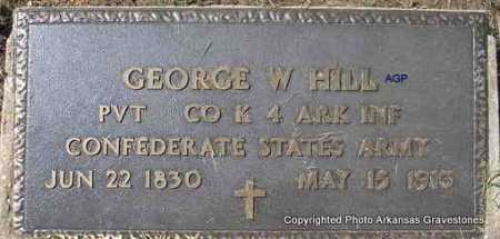 HILL  (VETERAN CSA ), GEORGE W - Montgomery County, Arkansas | GEORGE W HILL  (VETERAN CSA ) - Arkansas Gravestone Photos