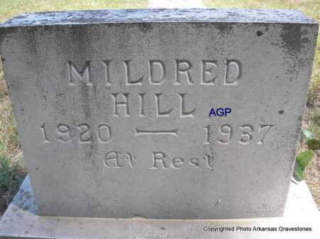HILL, MILDRED - Montgomery County, Arkansas | MILDRED HILL - Arkansas Gravestone Photos